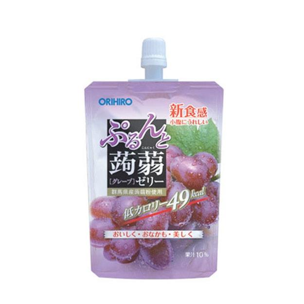 商品详情 - 日本ORIHIRO 低卡纤体蒟蒻果冻 葡萄味 130g - image  0
