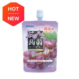 日本ORIHIRO 低卡纤体蒟蒻果冻 葡萄味 130g