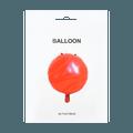 名创优品Miniso 圆形气球 #红色