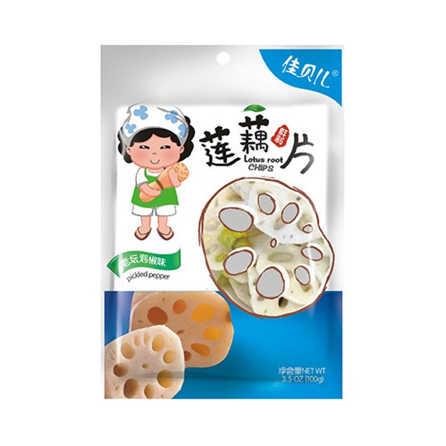 YUMEI JIABEIER Lotus Roots Pickled Peeper Flavor 100g