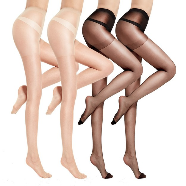 Product Detail - 浪莎丝袜女超薄款6双连裤袜防勾丝性感长筒黑肉色春夏打底袜 黑肤各3双 均码 - image 0