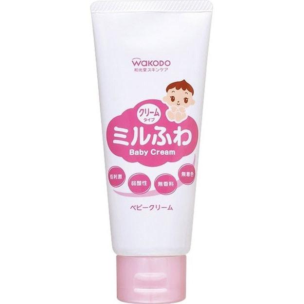 商品详情 - 【日本直邮】日本Wakodo 和光堂婴儿童宝宝保湿弱酸性面霜润肤霜乳霜 60g - image  0