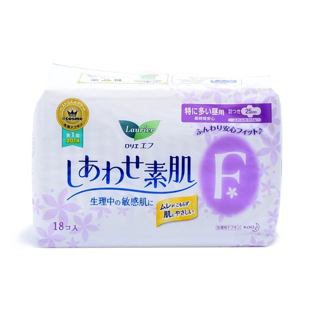 Product Detail - KAO LAURIER F Ultra Thin Sanitary Napkins with Wings Day Use 25cm 18pads - image 0