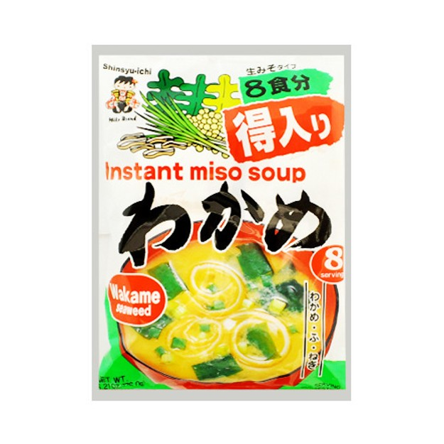 商品详情 - 日本神州一味噌Shinsyu-ichi 速冲即食海带味噌汤 8袋入  - image  0