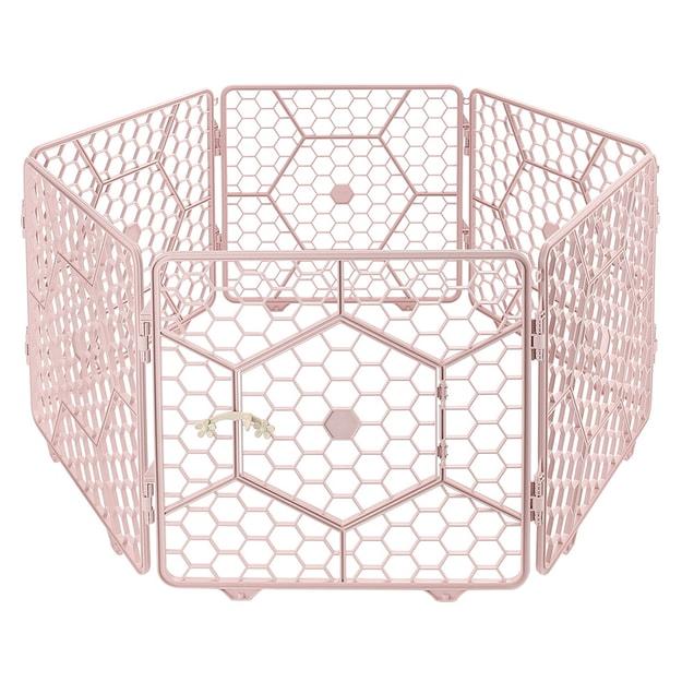 商品详情 - 8面板塑料 定制宠物围栏笼-(粉色) - image  0