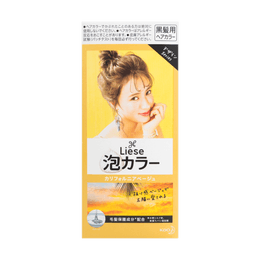 KAO LIESE PRETTIA Bubble Hair Dye Milky California Beige 1set