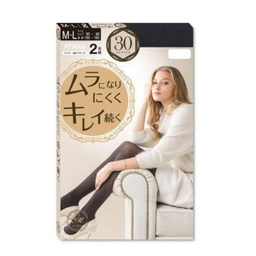 JAPN ATSUGI Sheer Tights 480 30 Denier 2 Pairs Black