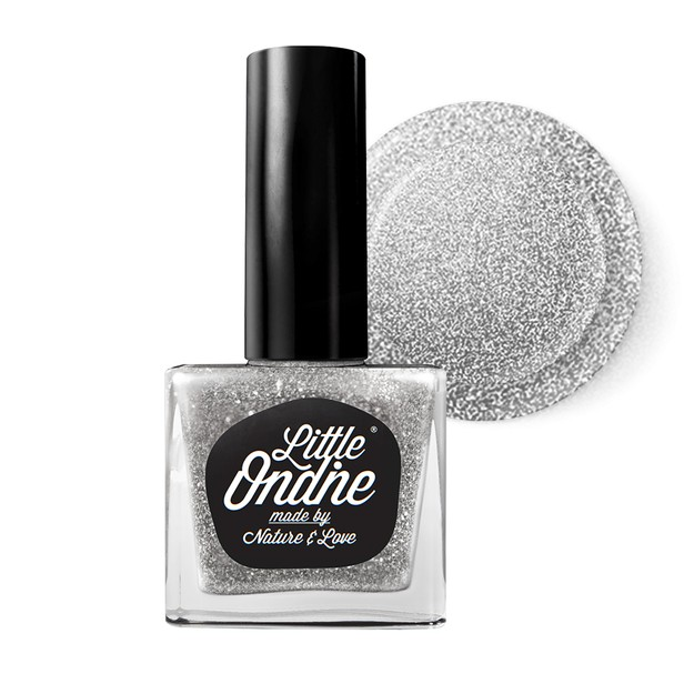 Product Detail - Little Ondine Water-based Peel off Odor Free Quick Dry Non Toxic Nail Polish-Glitter Silver 0.36 Fl Oz(L024-Overnight) - image 0