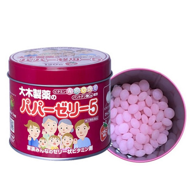OHKISEIYAKU Papa Jelly 5 Vitamin Calcium Pantothenate Strawberry