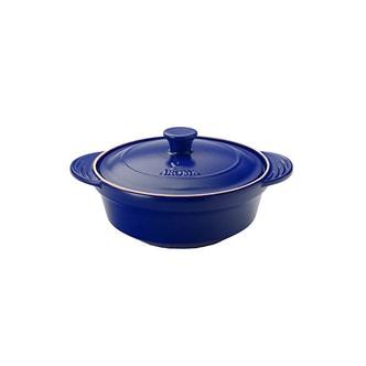 美国AROMA 珐琅釉炖锅 2.5夸脱(2.36L) 蓝色 ADC-101BL 天然无毒珐琅釉健康便捷好生活 (5年制造商保修)