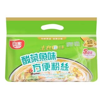 白家陈记 酸菜鱼方便粉丝 家庭装 5包入 550g