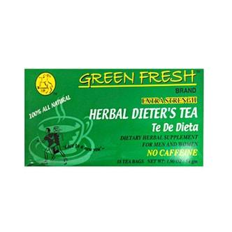 大洋Green Fresh强效中草药无咖啡因减肥茶 18包入
