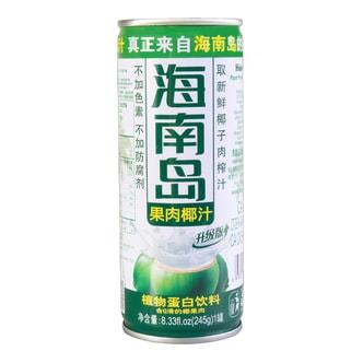 海南岛 果肉椰汁植物蛋白饮料  245g