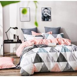 水星家纺 100% 全棉床品 彩盘  Full 码  床单四件套  (枕套x2 被套x1 床笠x1)