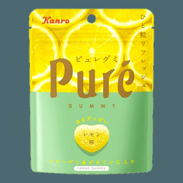 商品详情 - 日本KANRO PURE果肉果汁咀嚼弹力软糖 柠檬味 56g - image  0