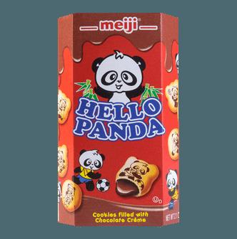 日本MEIJI明治 熊猫夹心饼干 巧克力味 60g