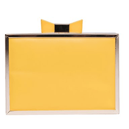 PuTwo Cocktail Purse Cocktail Clutches Acrylic Fashionable Evening Shoulder Bags Ideal Gift for Ladies - Yellow