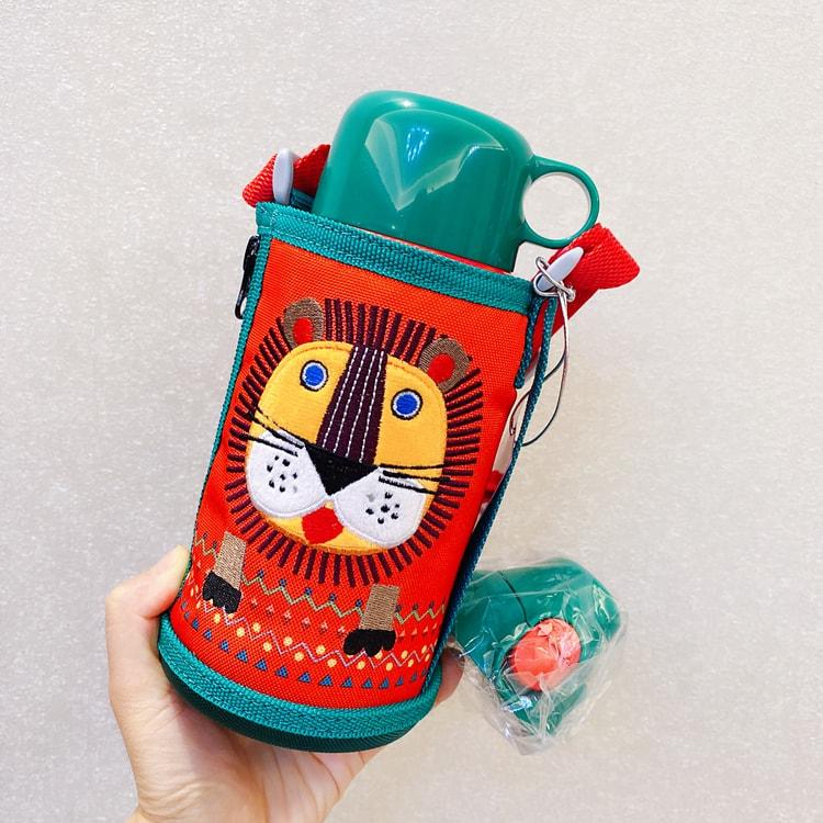 【日本直邮】日本TIGER 虎牌儿童保温杯/直饮双盖 小狮子 # MBR-B06G RL 便携学生水杯(直饮盖+保温盖) 600ml 怎么样 - 亚米网