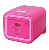 TIGER Electric Rice Cooker Warmer with Steaming Basket 3 Cups Pink JAJ-A55U