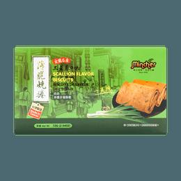 台湾明奇 一页烧 薄脆烧卷 三星葱口味 宜兰名产 72g