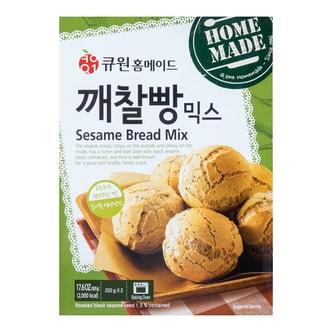 韩国QONE 黑芝麻面包预拌粉 500g