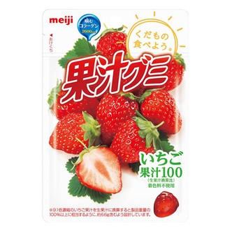 MEIJI 100% Juice Collagen Beauty Soft Candy Strawberry 51g