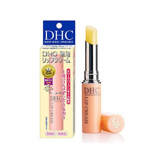 DHC Organic Olive Lip Cream Unscented and Colorless 1.5g