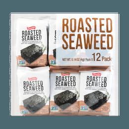 Roasted & Seasoned Seaweed 4g*12packs, 48g