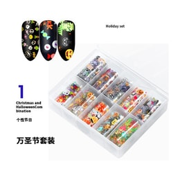 Cinderella's choice manicure Halloween Christmas star nail stickers 10 squares 4 * 120cm #Halloween Star paper 01
