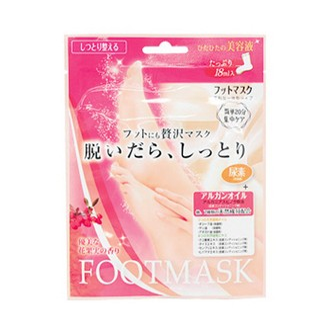日本LUCKY TRENDY玫瑰美白滋润补水足膜 1回份