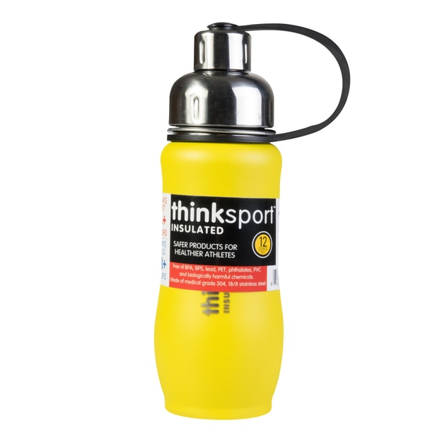 Product Detail - THINKSPORT Insulated Vacuum-Sealed Stainless Steel Sports Bottle - Coated Yellow 350ml - image 0