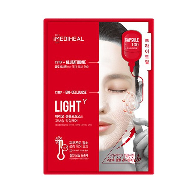 Product Detail - MEDIHEAL Capsule100 Bio Seconderm Light γ 2 Step Mask 27ml - image 0