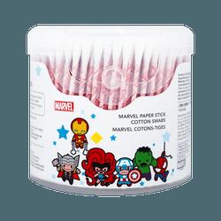 Miniso Marvel Paper Stick Cotton Swabs Round & Spiral 250pcs