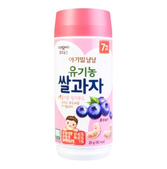 ILDONG Baby Finger Rice Puff Snack- Blueberry Flavor 25g 7M+