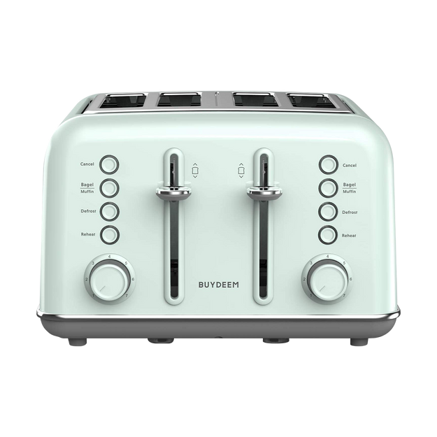 Product Detail - 4-Slice Teal Stainless Steel Toaster, DT-6B83G, Vintage Green - image  0