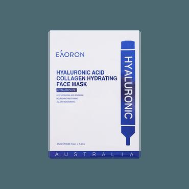 澳洲EAORON 水光针玻尿酸胶原蛋白补水面膜 5片