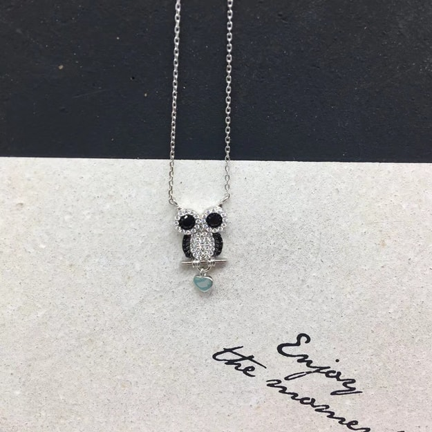 ARIEL Sterling Silver Owl Necklace