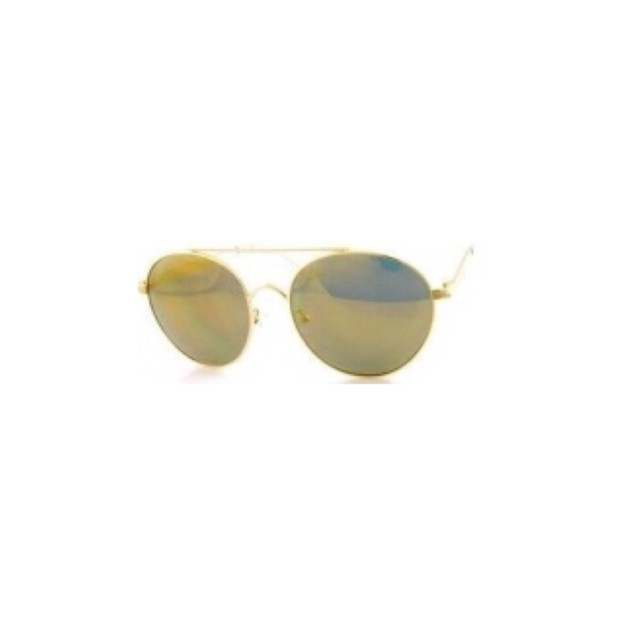 Product Detail - RETRO POP Fashion Sunglasses 6005 Gold Frame/Gold Mirror - image 0