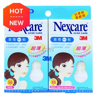3M NEXCARE Ultra Thin Mini Pimple Sticker Twin Pack 0.8cm 60 Pieces