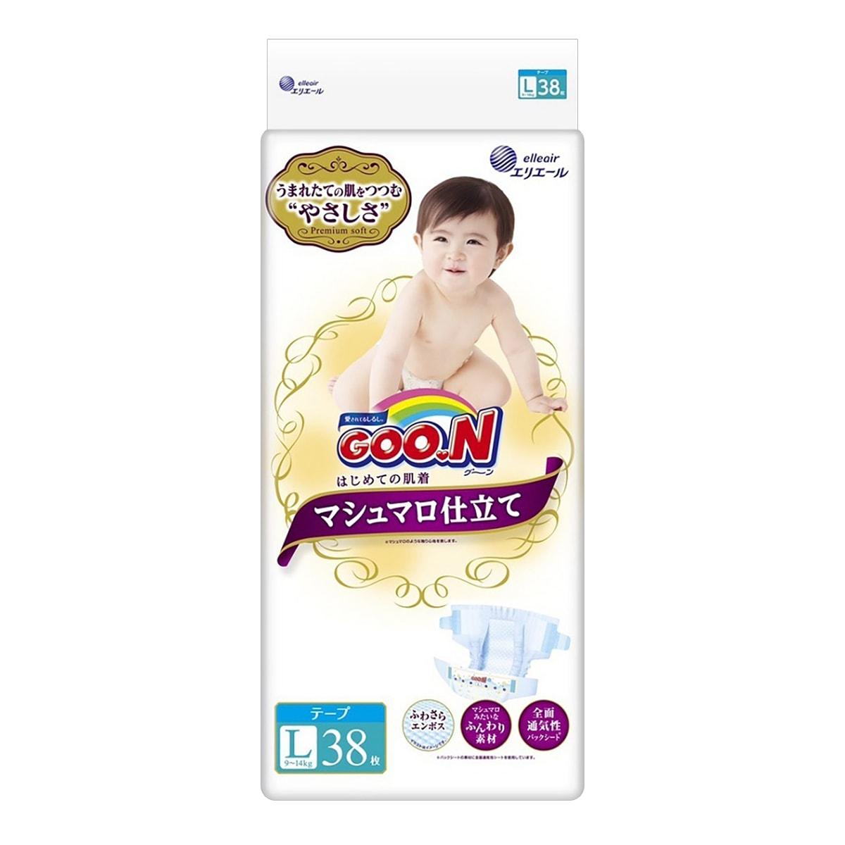 日本GOO.N大王 PREMIUM SOFT天使系列 纸尿裤 #L 9~14kg (22-37lb) 38枚入 怎么样 - 亚米网