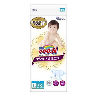 GOO.N Premium Soft Baby Diaper Large Size 38 Sheets
