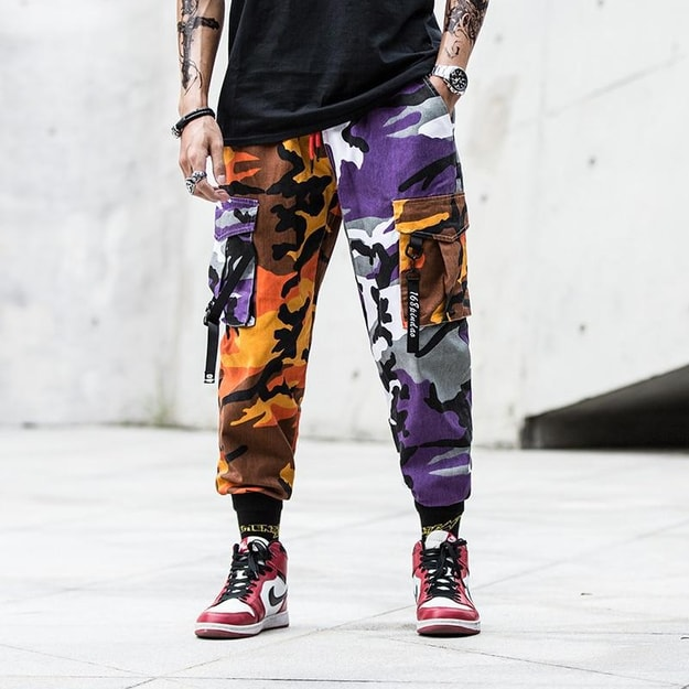 Product Detail - NIEPCE Double Color Camo Jogger Pants Yellow Camouflage S 1 Piece - image 0
