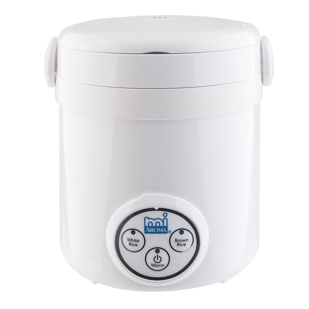 AROMA 3-Cups Cooked Digital Rice Cooker MRC-903D 8''  x 7.5''  x 7.5'' (2 Year Manufacturer Warranty)