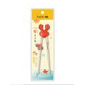 双枪学习筷系列 儿童小孩专用 练习筷子 另附硅胶助力头 19cm 1双入 #螃蟹
