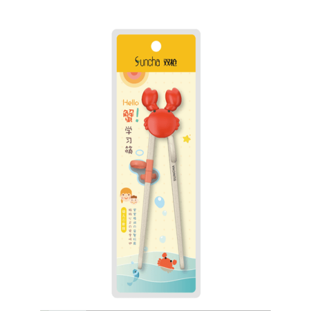Product Detail - SUNCHA Children Learning Chopsticks for Kids Toddlers 19cm 1pair #Crab - image 0