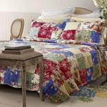 水星家纺玫瑰花园绗缝被+枕套 F/Q Size
