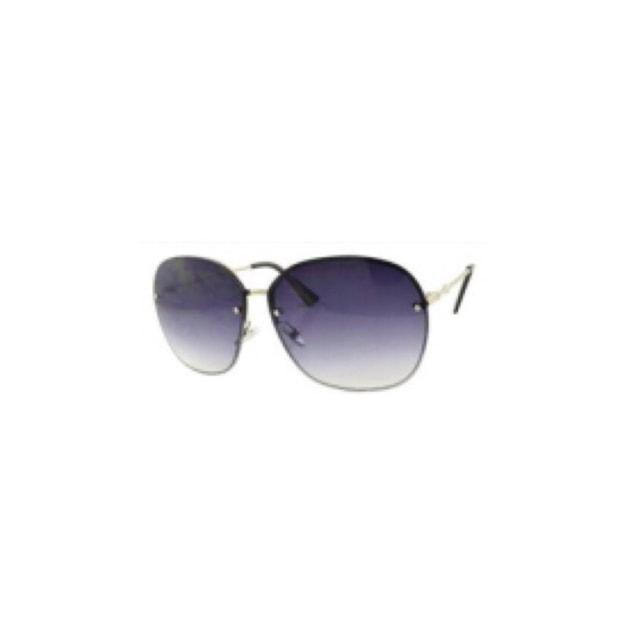 商品详情 - RETRO POP 时尚太阳镜 8107 黑色镜框/灰色镜片 - image  0