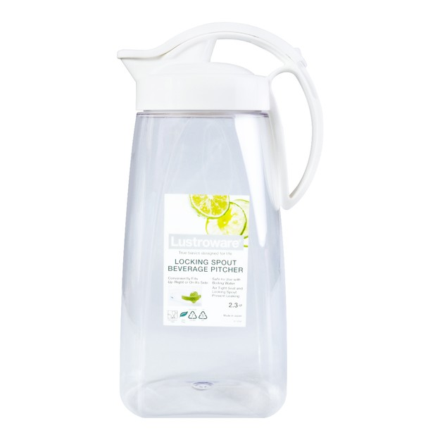 Product Detail - LUSTROWARE Airtght Space Saver Plastic Pitcher w/ Locking Spout for Hot & Cold Beverages 2.17L - image 0