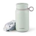 BUYDEEM Vacuum insulated stainless steel water bottle travel mug 300ml #light green 1pc