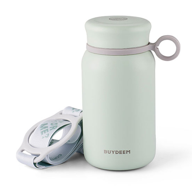 Product Detail - BUYDEEM Vacuum insulated stainless steel water bottle travel mug 300ml #light green 1pc - image 0